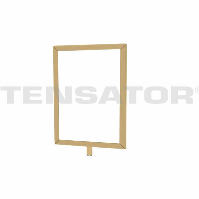 "Tensator Sign Frame Post Rope 7X11"" Satin Brass"