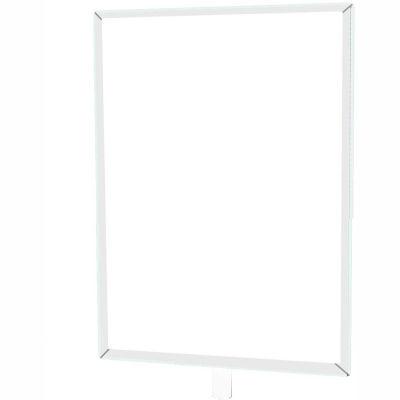 "Tensabarrier Sign Frame Post Rope 8.5X11"" Polished Chrome"