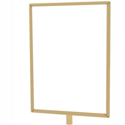 """Tensabarrier Sign Frame Post Rope 8.5X11"""" Satin Brass"""
