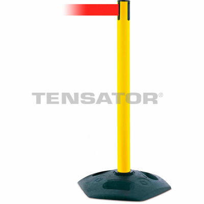 Tensabarrier Red Heavy Duty Post 7.5'L Red Retractable Belt Barrier