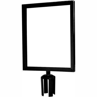 "Tensabarrier Sign Frame Post Stanchion 11X14"" Black"