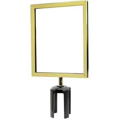 "Tensabarrier Sign Frame Post Stanchion 8.5X11"" Polished Brass"
