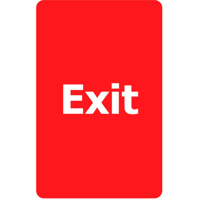 "Tensabarrier Red 7""x11"" 1/4"" Classic Acrylic Sign - Exit Please Do Not Enter"