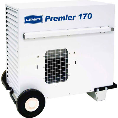 L.B. White® Portable Gas Heater Premier 170 - 170K BTU, LPG, with Thermostat, Hose, Regulator