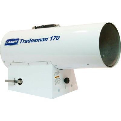 L.B. White® Portable Gas Heater Tradesman 170, 125K-170K BTU, Propane