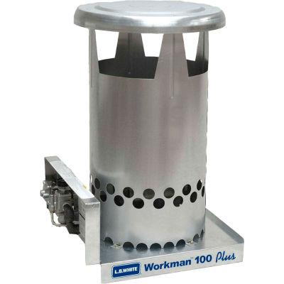 L.B. White® Portable Gas Heater Workman 100N Plus, 100K BTU, Natural Gas