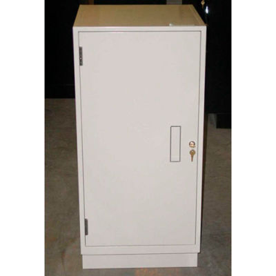 "Fenco Teller Pedestal Cabinet 202R-I - Right Hinged Door 18""W x 19""D x 38-1/2""H Gray"