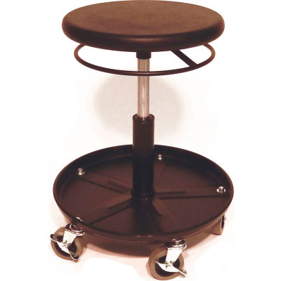 """ShopSol Round Welding Stool with Tray - 15.5"""" to 20.5""""H Adjustment"""