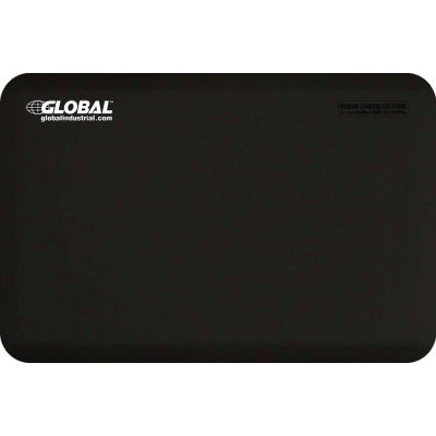 "Global Industrial™ Supreme Anti-Fatigue Mat 3/4"" Thick 3'x 2' Black"