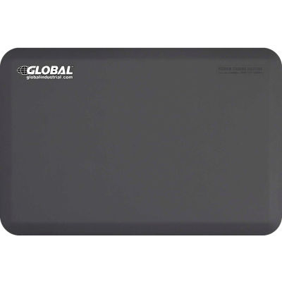 "Global Industrial™ Supreme Anti-Fatigue Mat 3/4"" Thick 3' x 2' Gray"