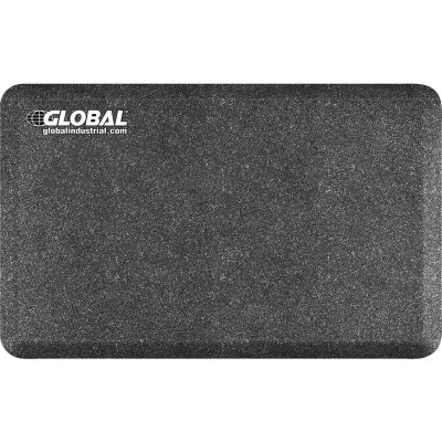"""Global Industrial™ Stand Smart Anti-Fatigue Mat 3/4"""" Thick 2.5' x 1.5' Mosaic Steel"""