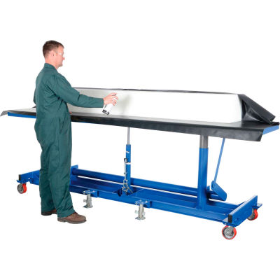 Extra-Long Deck Mobile Work Positioning Lift Table Cart LDLT-30120