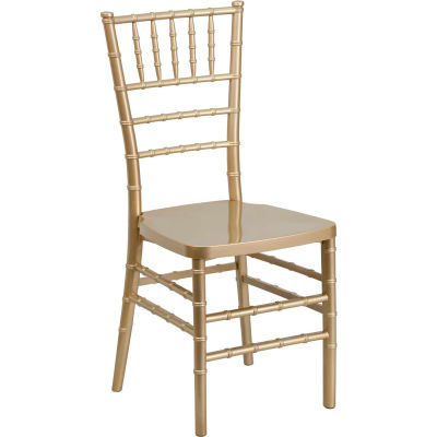 Flash Furniture Chiavari Chairs - Resin - Gold - Pkg Qty 4