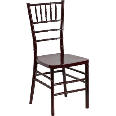 Flash Furniture Stacking Chiavari Chair - Resin - Mahogany - Hercules Premium Series