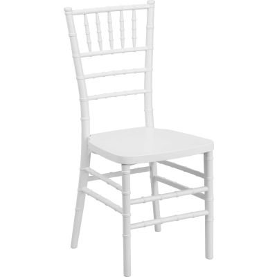 Flash Furniture Chiavari Chairs - Resin - White - Pkg Qty 4