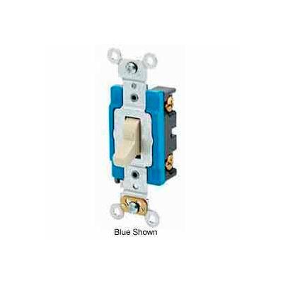 Leviton 1201-Lhw 15a, 120v, Illuminated Off Single-Pole Ac Quiet Switch, White - Min Qty 12