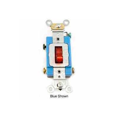 Leviton 1201-Plr Neutral Single-Pole Ac Quiet Switch, Self Grounding, Red - Min Qty 14