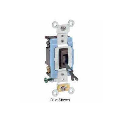 Leviton 1202-2l 15a, 120/277v, Double-Pole Ac Quiet Switch, Brown - Min Qty 10