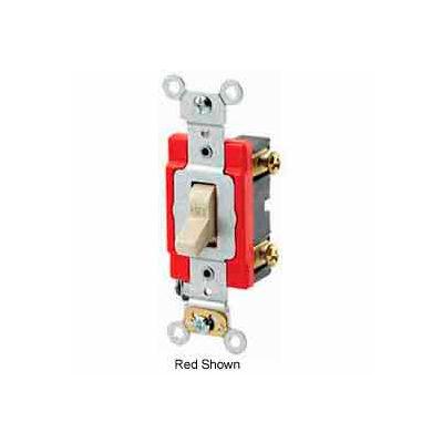 Leviton 1221-2E 20A, 120/277V, Single-Pole AC Quiet Switch, Black