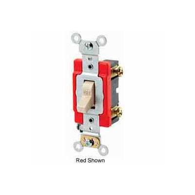 Leviton 1221-2I Single-Pole AC Quiet Switch, 20 Amp 120/277 V, Ivory