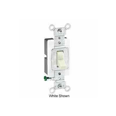 Leviton 1221-Sgy 20a, 120/277v, Single-Pole Ac Quiet Switch, Gray - Min Qty 16