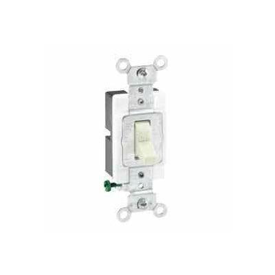 Leviton 1221-Sw 20a, 120/277v, Single-Pole Ac Quiet Switch, Grounding, White - Min Qty 16
