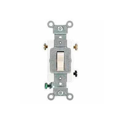 Leviton 1223-Sw 20a, 120/277v, 3-Way Ac Quiet Switch, White - Min Qty 15