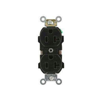 Leviton 5352-E 20A, 125V, Duplex Receptacle, Black