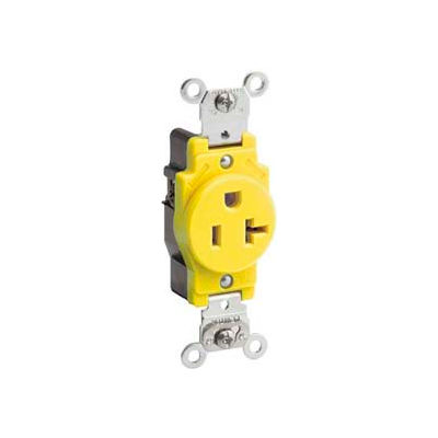 Leviton 5361-Ig 20a, 125v, Narrow Body Single Receptacle, Isolated Ground, Brown - Min Qty 11