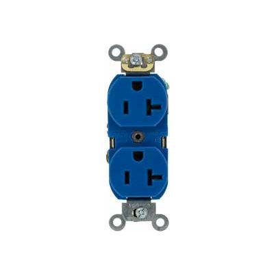 Leviton 5362-SBU 20A, 125V, Duplex Receptacle, Blue