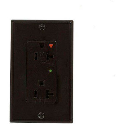 Leviton 5380-Ig Decora Duplex Surge Suppressor Receptacle Iso Ground, 20a, Brown - Min Qty 4