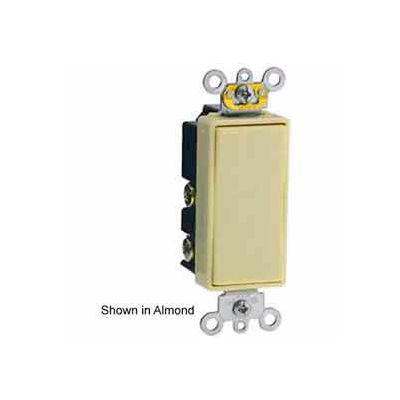 Leviton 5657-2w 15a Decora Plus Rocker, 1-Pole Dbl Throw Center Off Momentary Contact, Wht-Min Qty 6