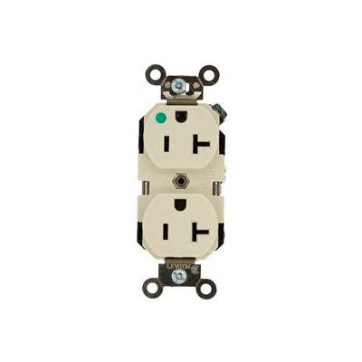 Leviton 5662-Ig 15a, 250v, Duplex Receptacle, Isolated Ground, Orange - Min Qty 8
