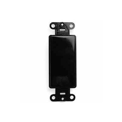 Leviton 80414-E QuickPort Decora Multimedia Blank Insert, Black