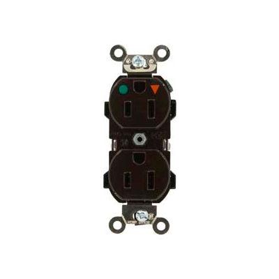 Leviton 8200-Igb 15a, 125v, Narrow Body Duplex Receptacle, Blue - Min Qty 10