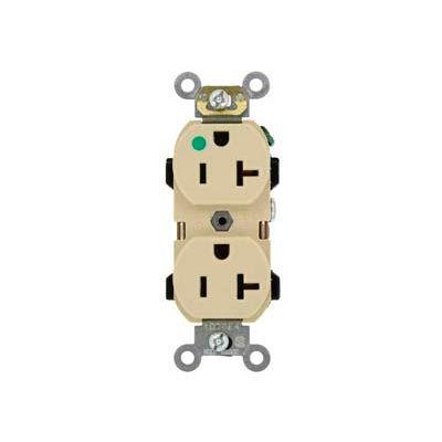 Leviton 8300-HI 20A, 125V, Duplex Receptacle, Ivory