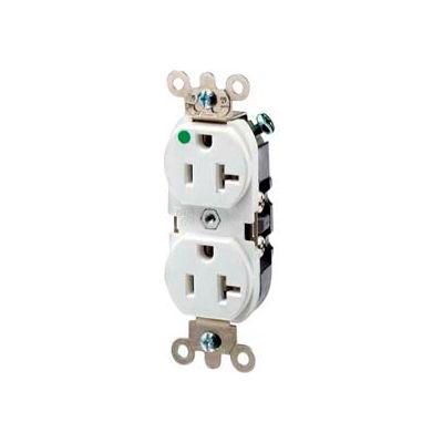 Leviton 8300-Hlw 20a, 125v, Duplex Receptacle, White - Min Qty 8