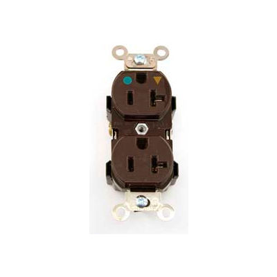Leviton 8300-Igb Duplex Receptacle, Straight Blade, Isolated Ground, Brown