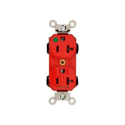 Leviton 8300-R 20a, 125v, Duplex Receptacle, Red - Min Qty 18