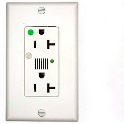 Leviton 8380-W Decora Dplx Surge Prot Recpt, Indicator Light & Alarm, 20a, White - Min Qty 4