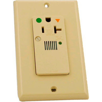 Leviton 8381-Igi Decora Sngl Surge Prot Recpt Iso Grd, Ind Lht & Alarm 20a Ivory - Min Qty 5