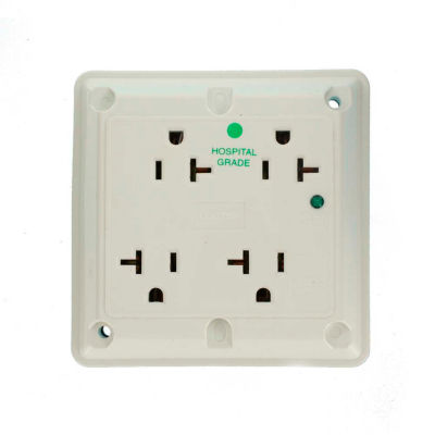 Leviton 8490-W 20a, 4-In-1 Surge Receptacle W/ Indicator Light, White - Min Qty 3