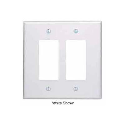 Leviton 86602 2-Gang Decora/GFCI Device Decora, Oversized, Thermoset, Ivory