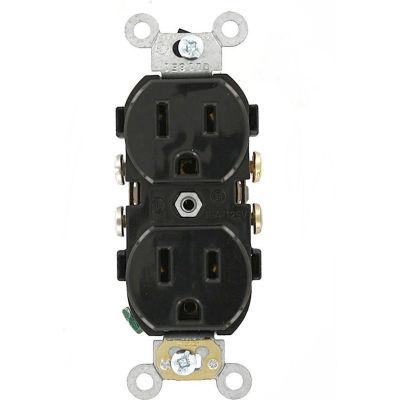 Leviton CR015-E 15A, 125V, Slim Body Duplex Receptacle,, Black