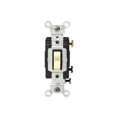 Leviton CS120-2T 20 Amp, 120/277 Volt, Single Pole  Side Wired Switch, Lt Almond - Pkg Qty 10