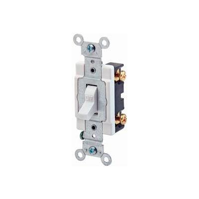 Leviton CS120-2W 20 Amp, 120/277 Volt,  Single-Pole, Grounding, Side Wired,White