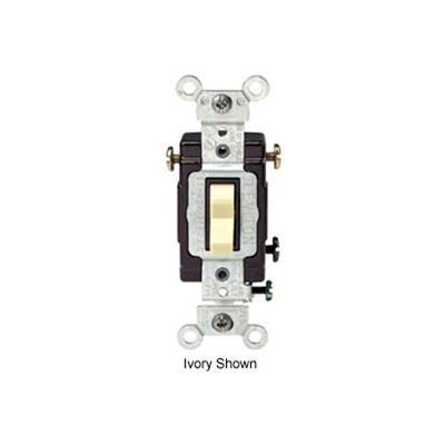 Leviton CS315-2GY 15A, 120/277V, 3-Way , Gray - Pkg Qty 10