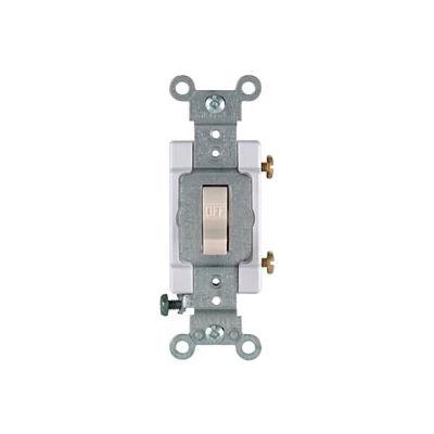 Leviton CS315-2T 15A, 120/277V, 3-Way , Light Almond - Pkg Qty 10