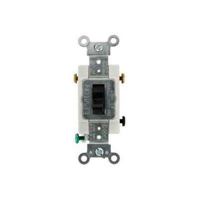 Leviton CS320-2E 20A, 120/277V, 3-Way, Heavy Duty Specification Grade, Blk - Pkg Qty 10
