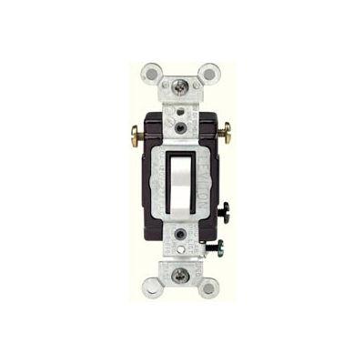 Leviton CS320-2W 20A, 120/277V,  3-Way, Side Wire, White - Pkg Qty 10